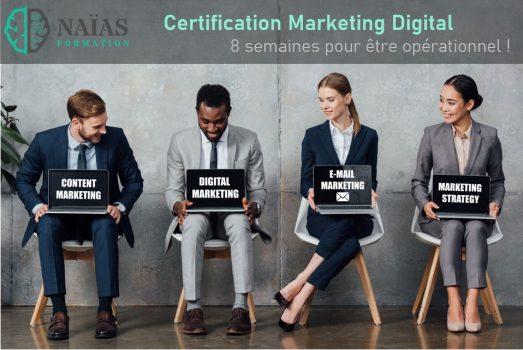 Certification en Marketing Digital - Candidats