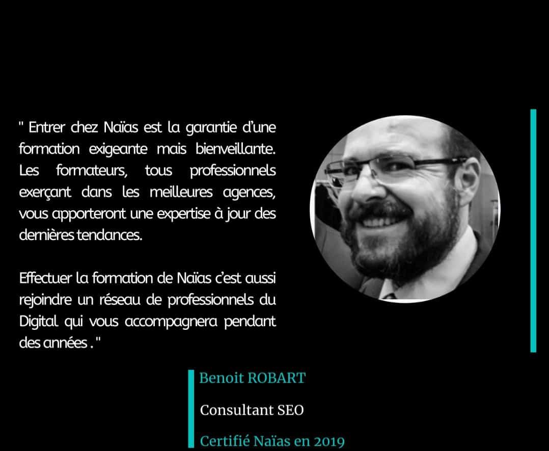 Témoignage de Benoit Robart Certification Marketing Digital