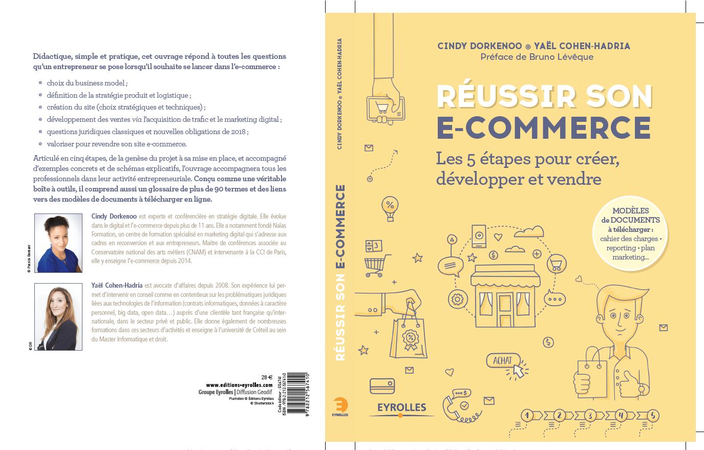 Réussir Son E-commerce, livre de Cindy Dorkenoo et Yaël Cohen-Hadria