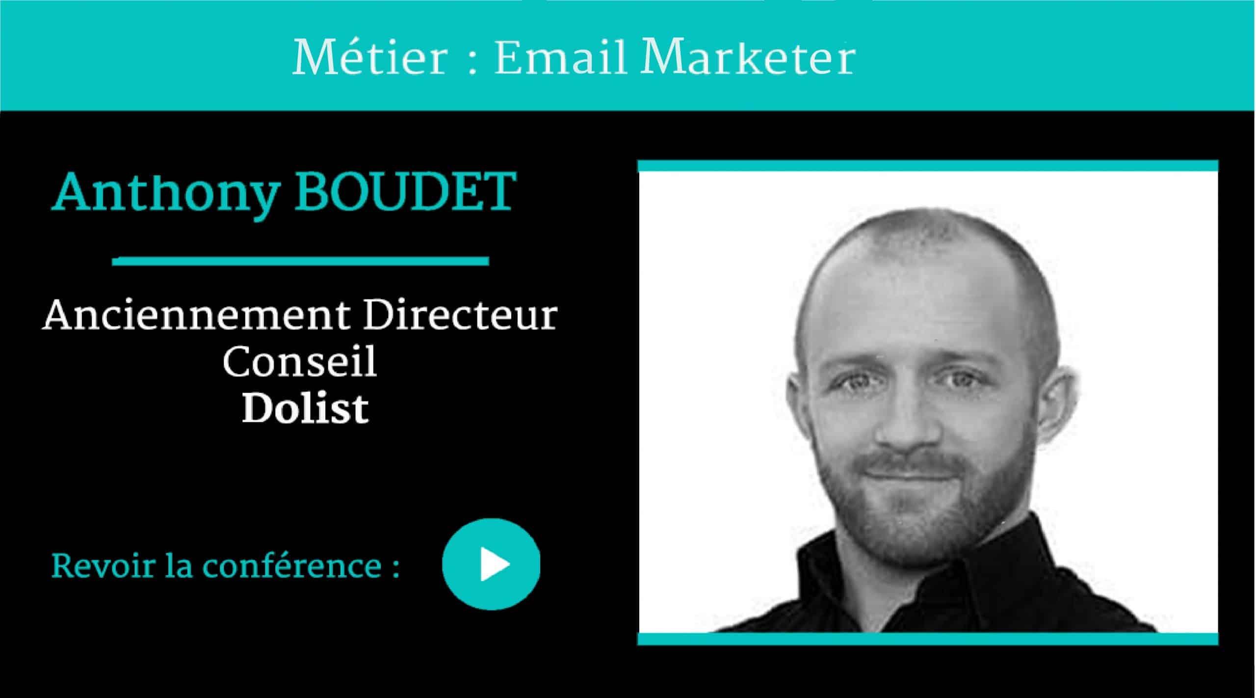 Métier Email MARKETER, conférence par Anthony BOUDET ,pour Naïas – National Institute of Advertising Strategy