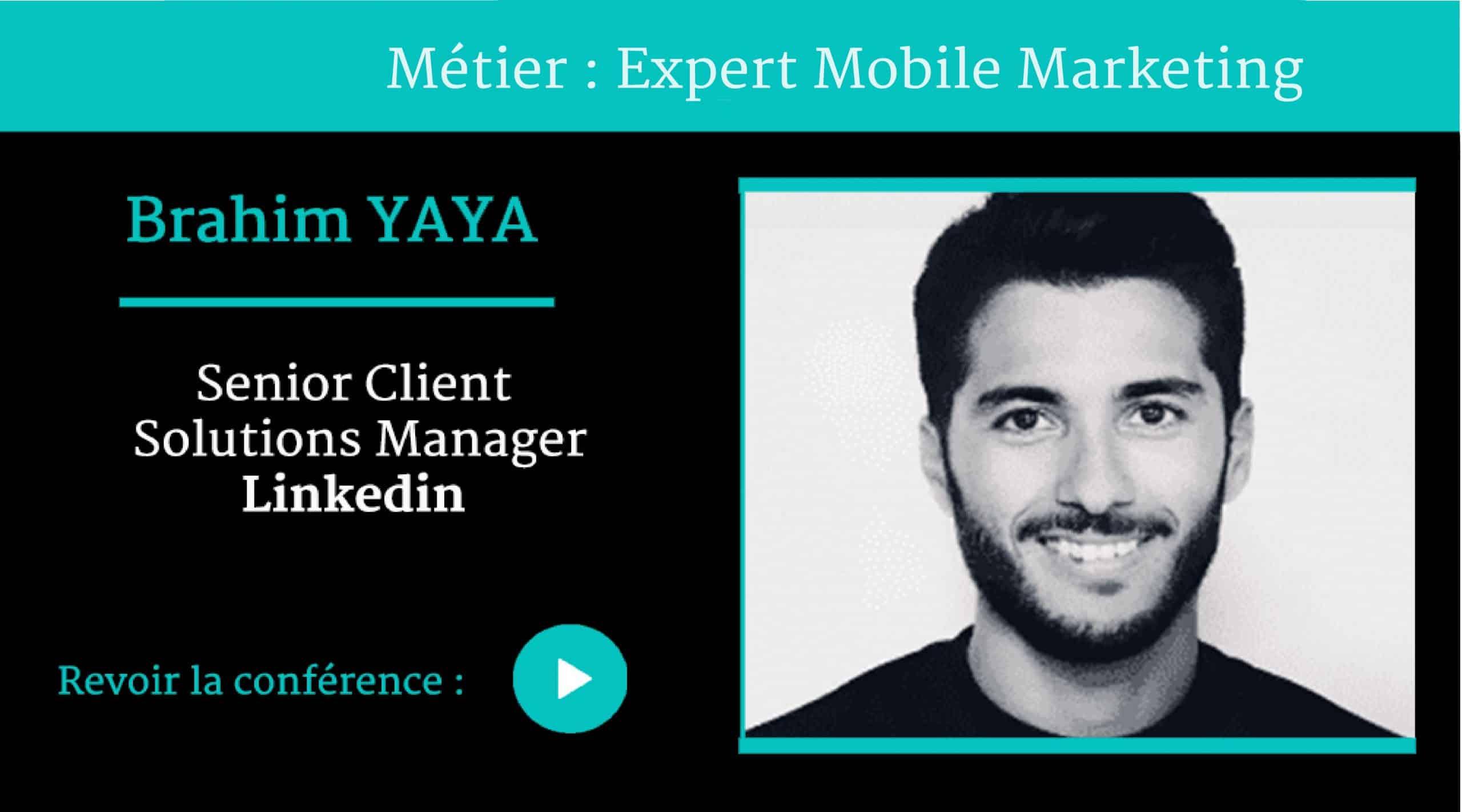 Métier Expert Mobile Marketing , conférence par Brahim YAYA ,pour Naïas – National Institute of Advertising Strategy