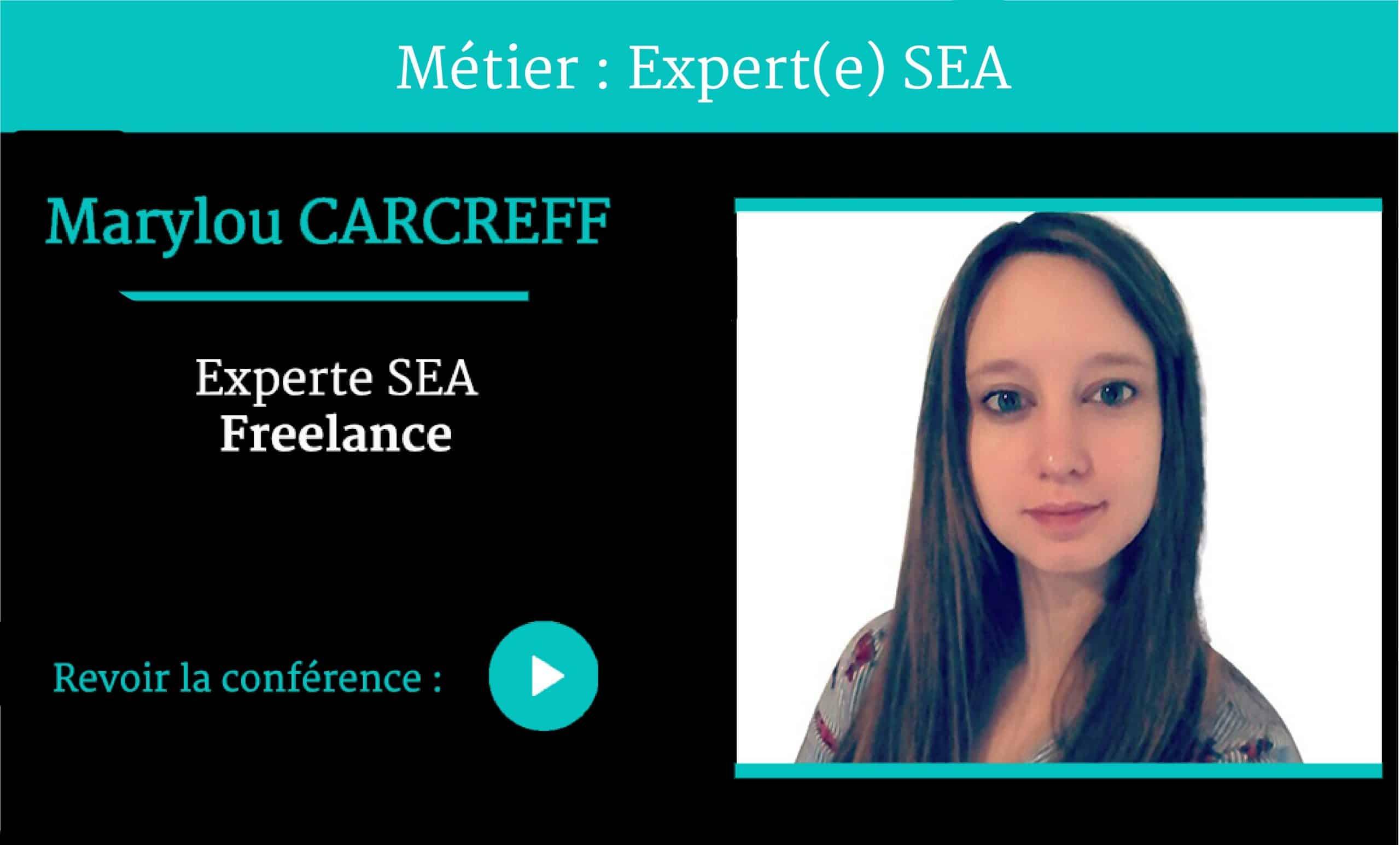 Métier Expert SEA conférence par Marylou CARCREFF pour Naïas – National Institute of Advertising Strategy