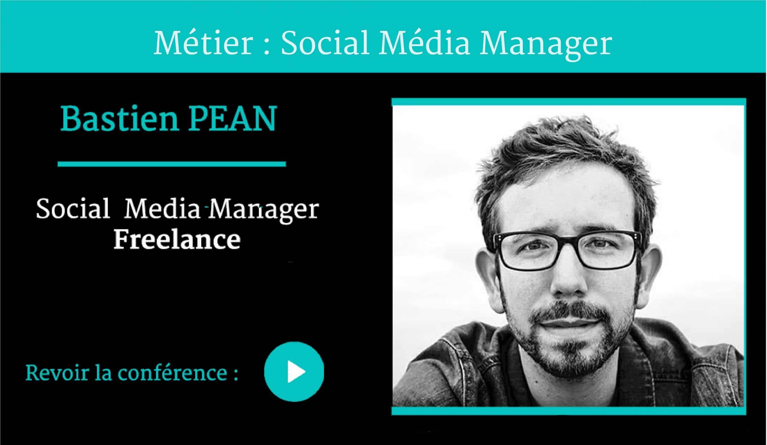 Métier Social Media Manager conférence Bastien Péan pour Naïas – National Institute of Advertising Strategy
