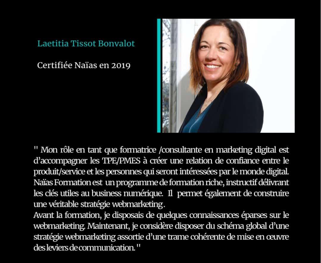 Témoignage de Laetitia Tissot, certifié Naïas en Marketing Digital