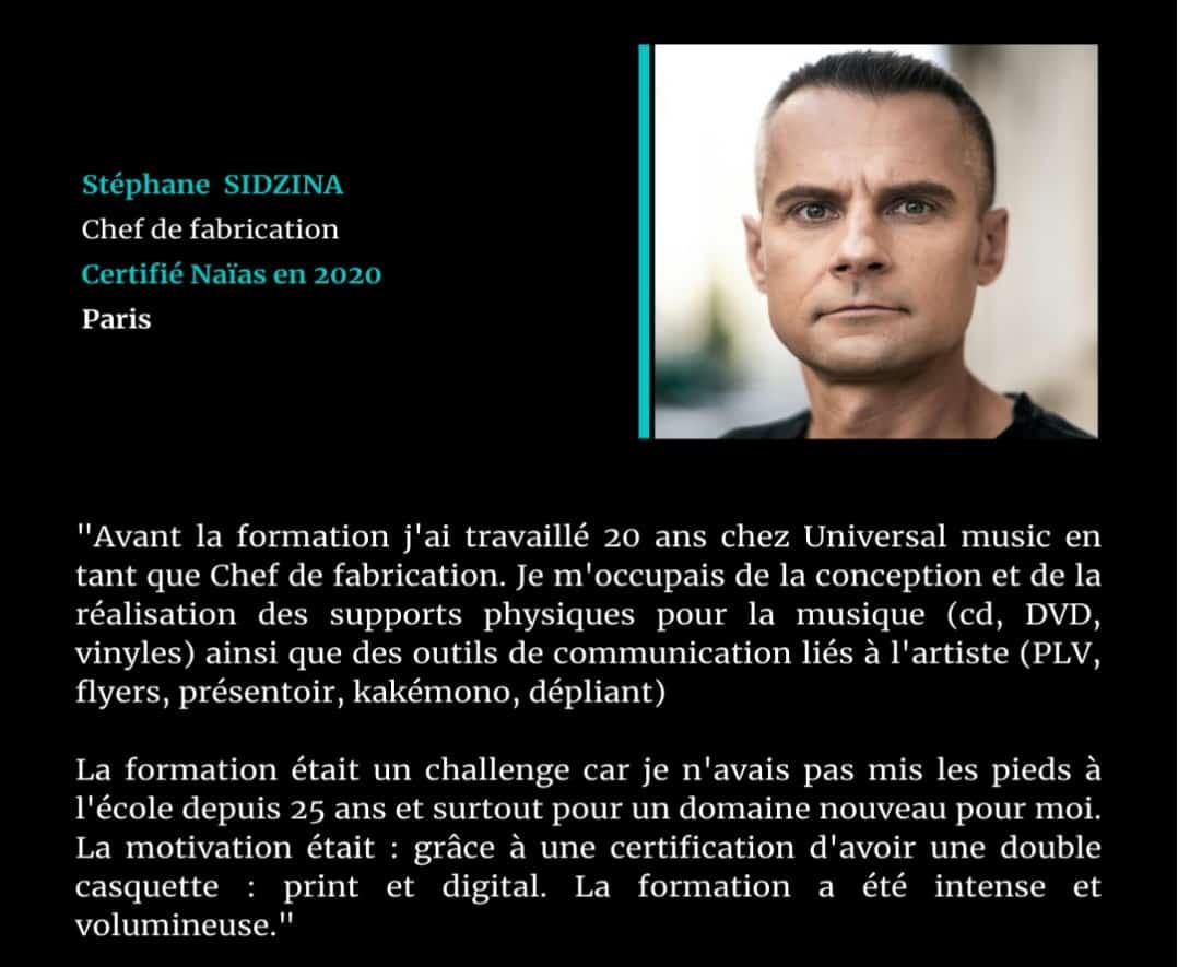 Témoignage de Stéphane SIDZINA, certifié Naïas en Marketing Digital